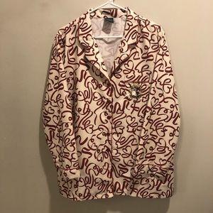 Jeffery Banks whimsical 2 piece pajamas size XL